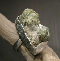 Moss green hills ring by Jealousydesign