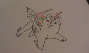 Drawed the god wolf from okami by SoulCooki