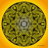 Mandala drawing 28 YELLOW by Mandala-Jim