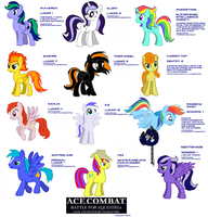 Ace Combat - Battle for Equestria characters by lonewolf3878