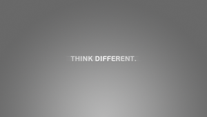 'Think different' Wallpaper by CookieAgent