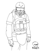 G.H.O.S.T. soldier uniform by yamumil