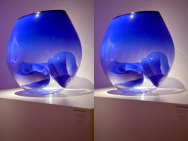 Chihuli Glass In Stereo From The Halycon Gallery by aegiandyad