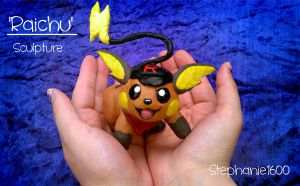 'Raichu' Sculpture Commission by stephanie1600