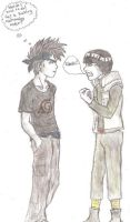 17 yr old gai and kakashi by JudgeGooby