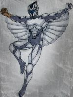 Quicksilver of The Silverhawks by jerryma