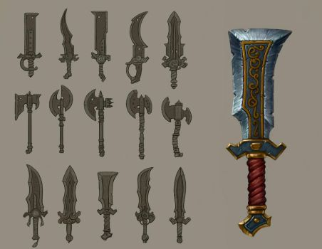Weapon Concepts by Sam-Peterson