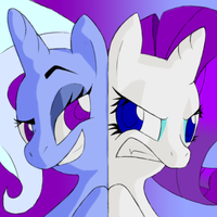 Trixie vs Rarity Icon by Facelessguru