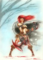 Red Sonja by strangeillusion