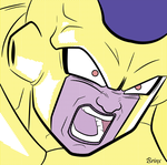 New form Frieza Pop Art by Brinx-dragonball