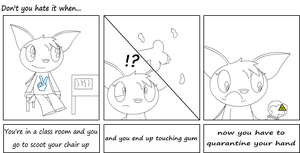 Don't you hate it when: gum by Jeffery-Cat