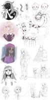 Mixed Sketch Dump 5 by DrawKill