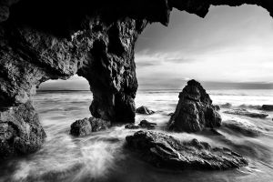 Black and White in Malibu by porbital