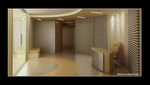 Reception 3D Interior by Ifthi