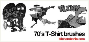 70's T-Shirt Brushes by kobobot