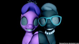D. Tiara and S. Spoon: Staring Right at You by NomanCarver