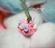 Alice's bunny cupcake pendant by tinkypinky