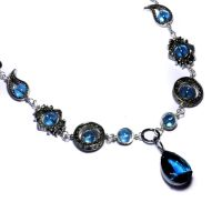 Neo victorian Blue Necklace by CatherinetteRings
