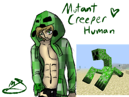 Mutant Creeper Human by Black-Sparow