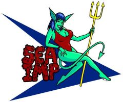 Sea Imp Nose Art by glenkamo