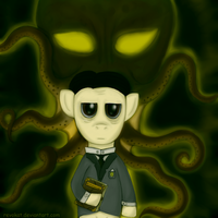 Howard Pony Lovecraft by Revokat