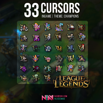 33 Champion Cursors Ingame - League of Legends by AliceeMad