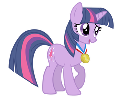 Twilight Wearing A Medal by ikillyou121