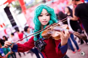 Kaiou Michiru with Violin by MonicaWos