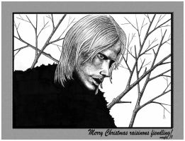 Draco in Winter dedicated by lazylinepainterjane