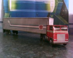 Optimus Prime Truck Mode by Darknlord91