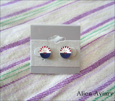 Peppermint Butler Earrings by alienaviary