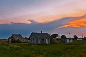 Sunset in Robsart by WayneBenedet