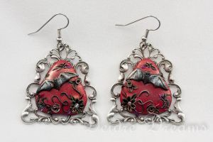 Vampire's Messenger Goth Bat Earrings by DeidreDreams