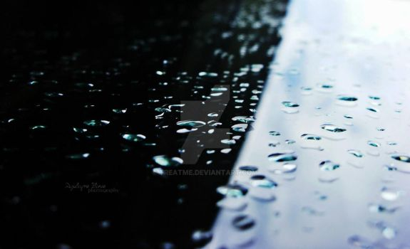 Water Drops + Glass by treatme