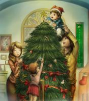 Christmas Tree by LL-LittleLord