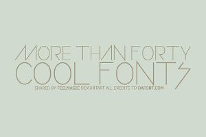 Cool Fonts by feelmagic