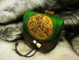 Triskele Hounds Belt Pouch by TheScreamingNorth