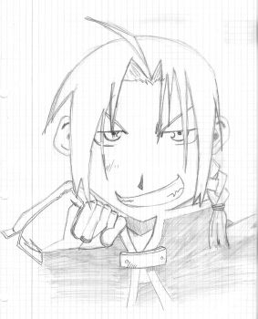 close up Edward Elric by GhoztRider
