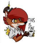 Sticker 3 - This is fine by Steampoweredfoxes