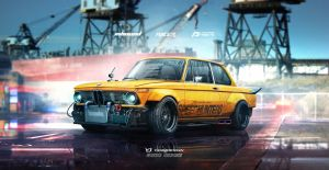 1974 BMW 2002 Speedhunters Need for speed tribute by yasiddesign