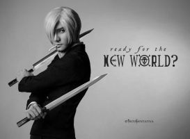 Want Some Sushi? ~Sanji Cosplay New World by liui-aquino