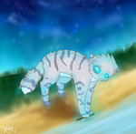 Jayfeather and his Stick by Sparkylovecupcakes