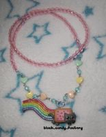 Super cute nyan cat necklace by gothic-yuna