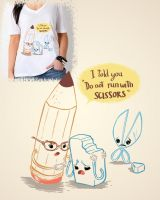 Scissor forever alone SHIRT by MIRRORMASTER
