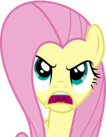 Fluttershy Expressing Her Anger by Uponia