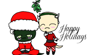Merry Christmas from Liz and Derkeethus by TheYUO