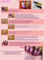 Daisy Stripe Nail Tutorial by Medu