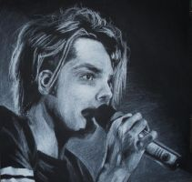 Gerard Way: White Charcoal by Barbies-Nightmare