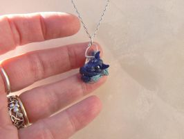 Crystal Teardrop Dragon Pendant by Creatures-of-Fae