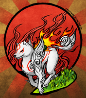 Okami Amaterasu by Cryophase